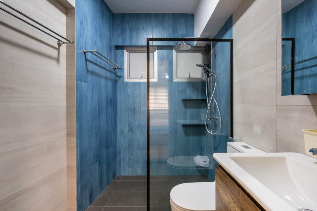 Scandinavian, HDB, Bathroom, Bedok Reservoir Road, Interior Designer, Ovon Design