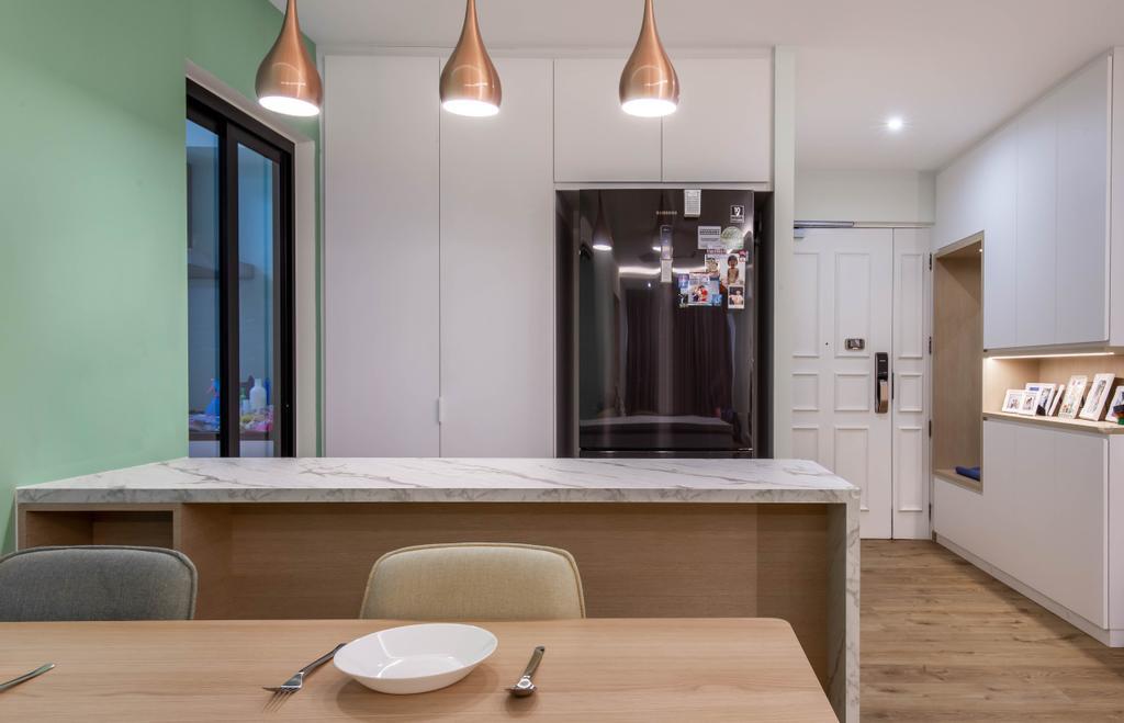 Scandinavian, HDB, Dining Room, Bedok Reservoir Road, Interior Designer, Ovon Design