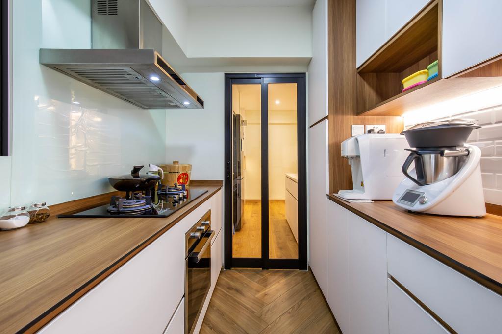 Scandinavian, HDB, Kitchen, Bedok Reservoir Road, Interior Designer, Ovon Design