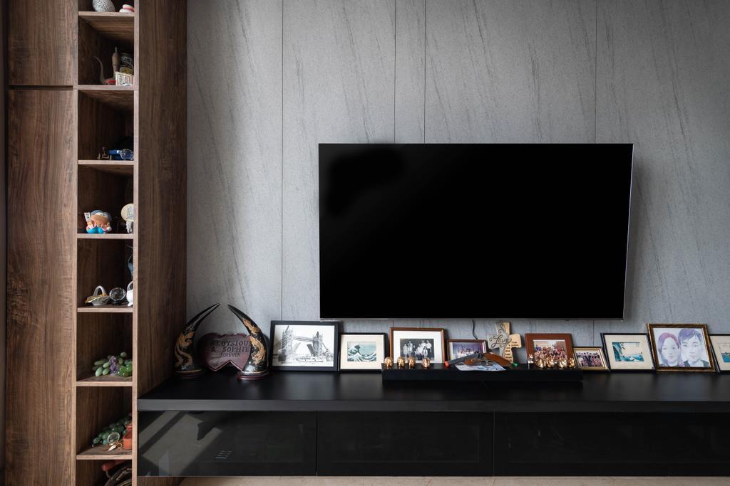 Contemporary, Condo, Living Room, The Heliconia, Interior Designer, Noble Interior Design