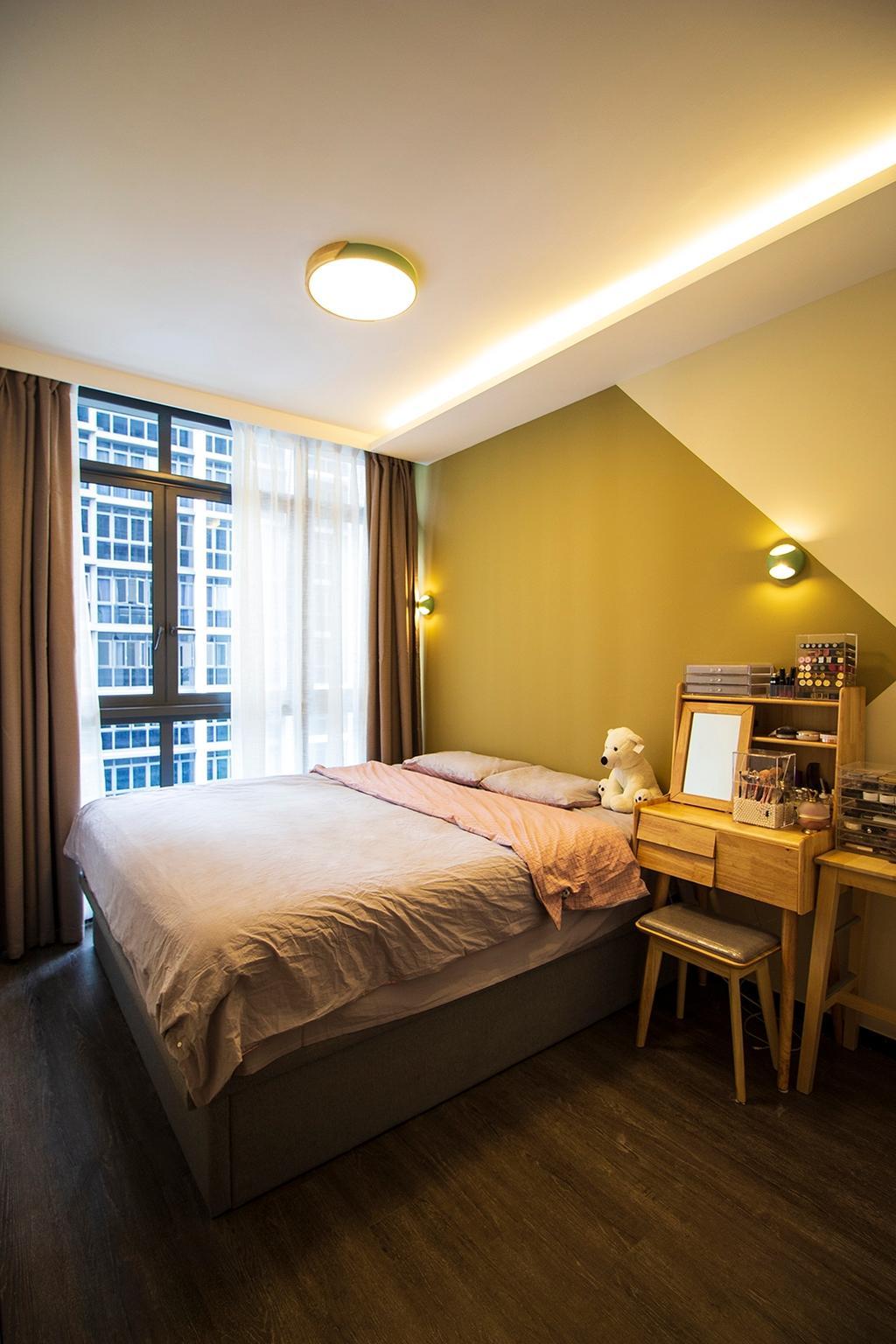 Scandinavian, Condo, Bedroom, Symphony Suites, Interior Designer, Noble Interior Design
