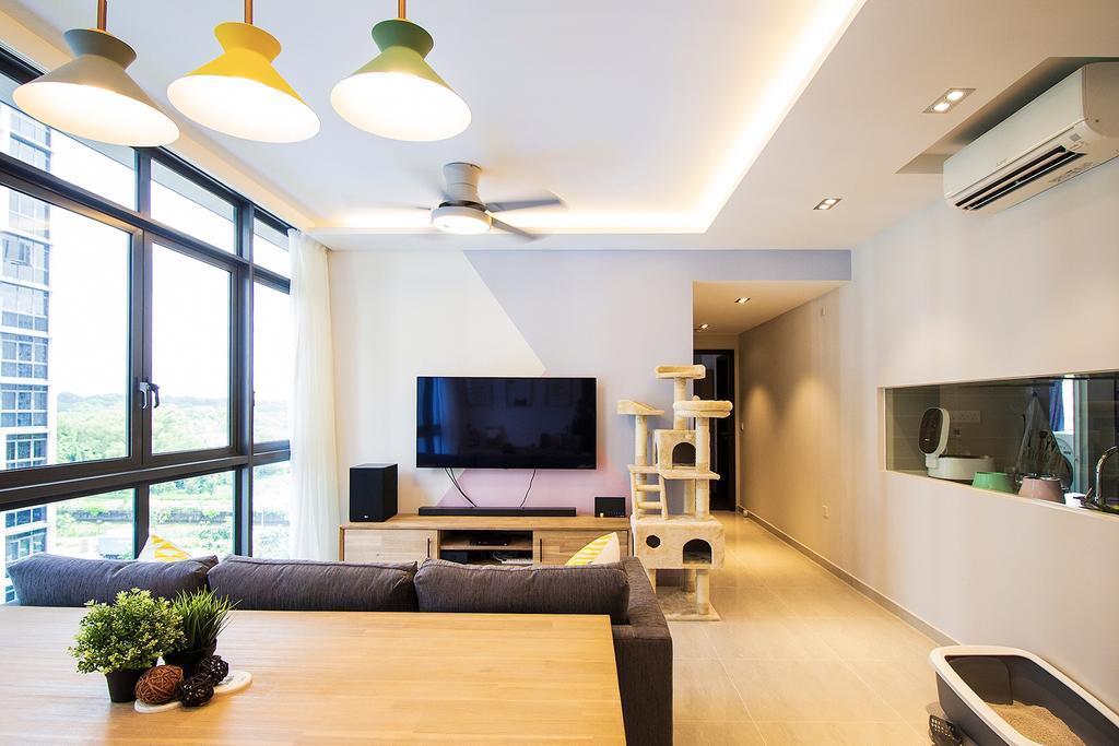 Scandinavian, Condo, Living Room, Symphony Suites, Interior Designer, Noble Interior Design