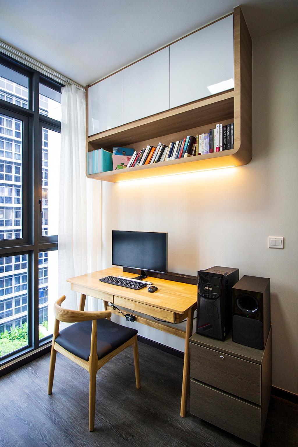 Scandinavian, Condo, Study, Symphony Suites, Interior Designer, Noble Interior Design