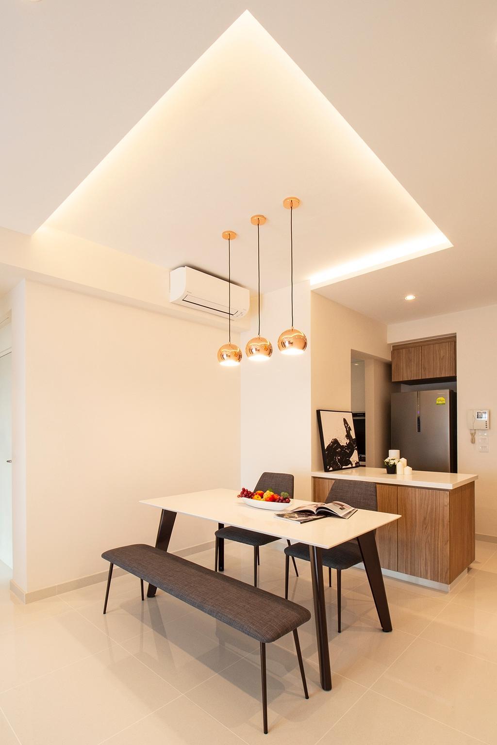 Contemporary, Condo, Dining Room, Kovan Melody, Interior Designer, Noble Interior Design