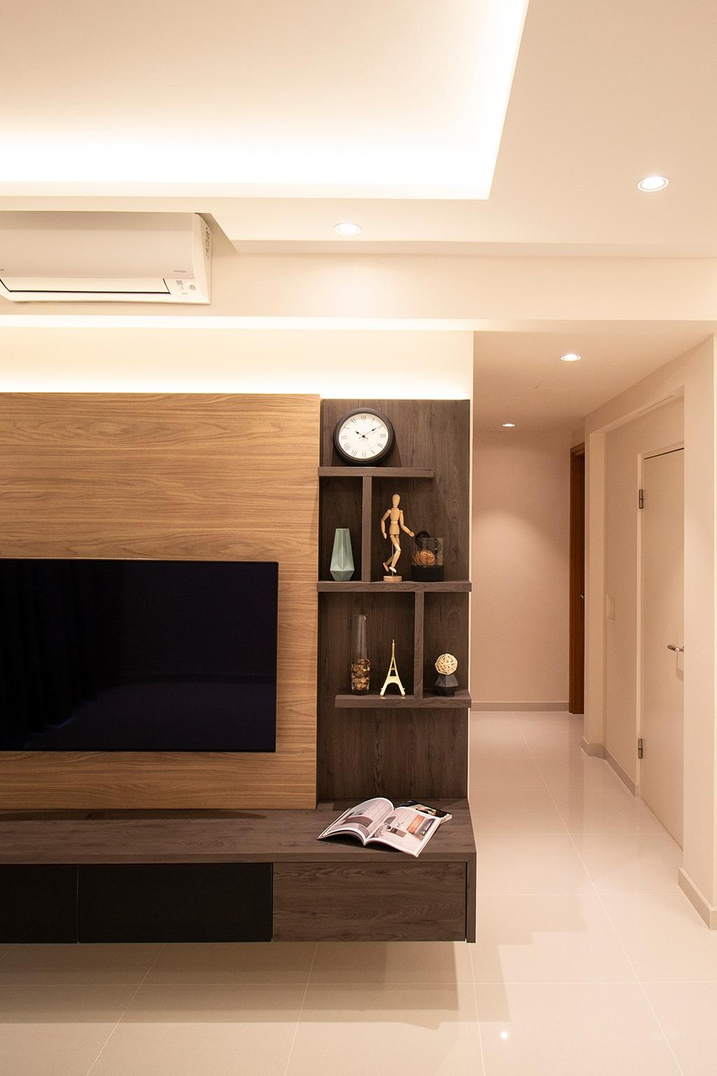 Contemporary, Condo, Living Room, Kovan Melody, Interior Designer, Noble Interior Design