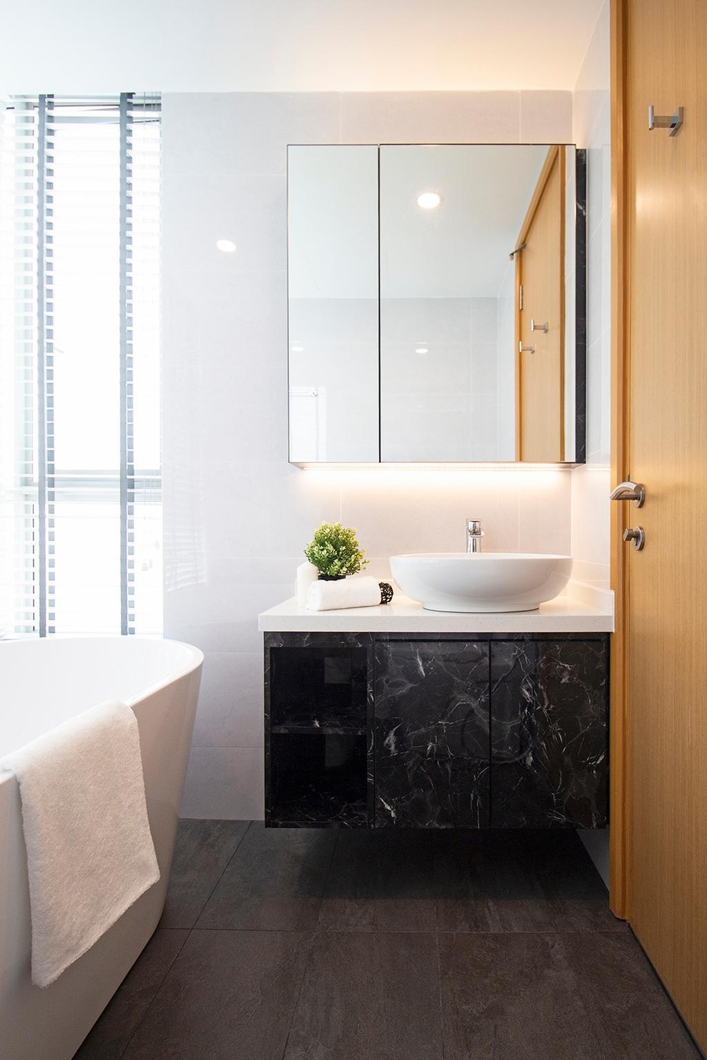 Contemporary, Condo, Bathroom, Kovan Melody, Interior Designer, Noble Interior Design