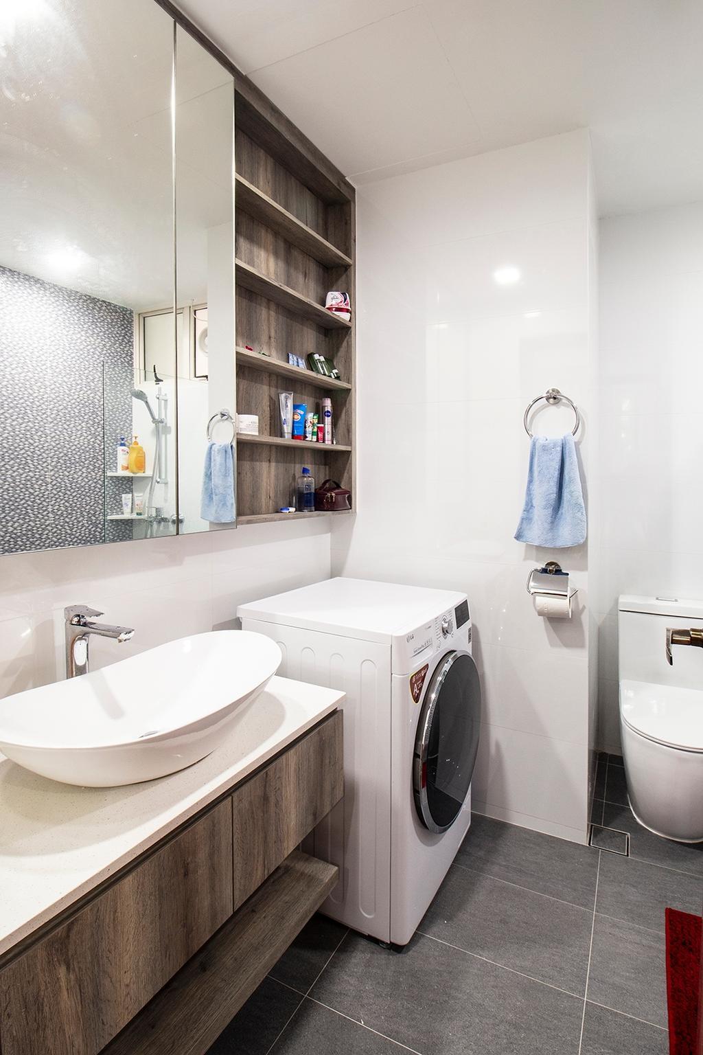 Modern, Condo, Bathroom, Seletar Springs, Interior Designer, Noble Interior Design