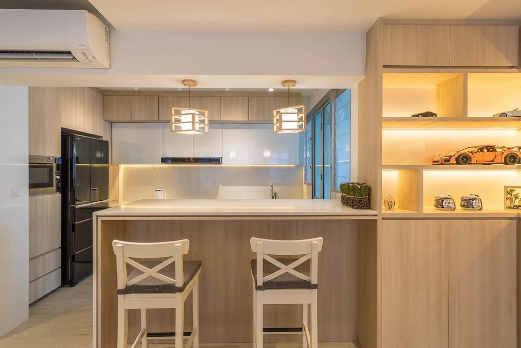 Contemporary, HDB, Kitchen, West Ridges, Interior Designer, Noble Interior Design, Scandinavian