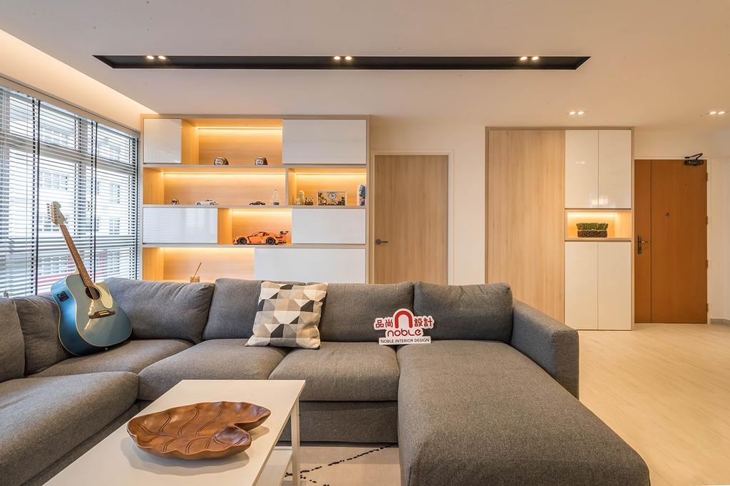 Contemporary, HDB, Living Room, West Ridges, Interior Designer, Noble Interior Design, Scandinavian