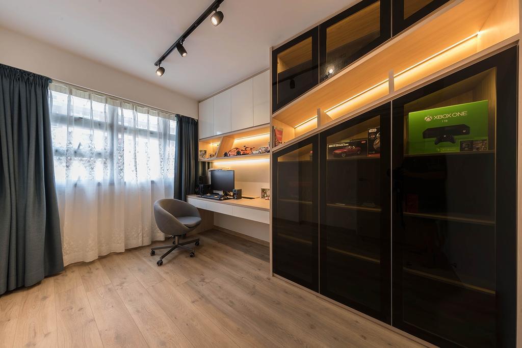 Contemporary, HDB, Study, West Ridges, Interior Designer, Noble Interior Design, Scandinavian
