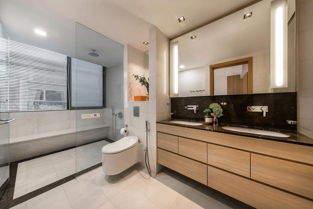 Transitional, Landed, Bathroom, Hillcrest Villa, Interior Designer, Noble Interior Design