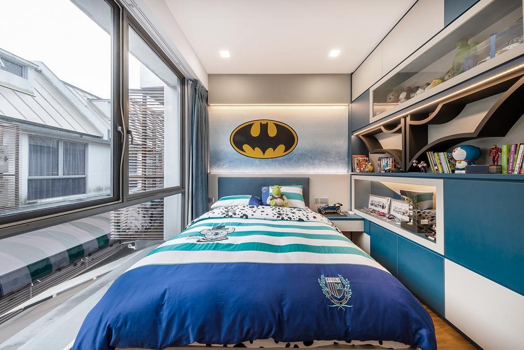Transitional, Landed, Bedroom, Hillcrest Villa, Interior Designer, Noble Interior Design