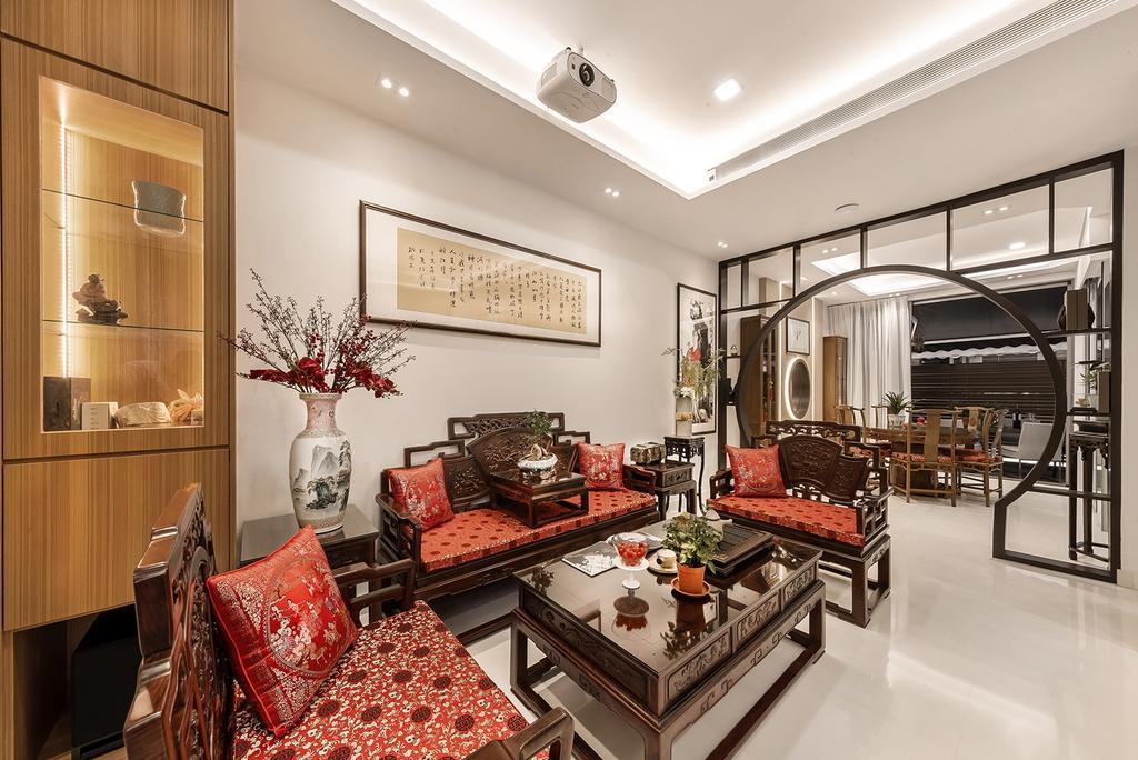 Transitional, Landed, Living Room, Hillcrest Villa, Interior Designer, Noble Interior Design