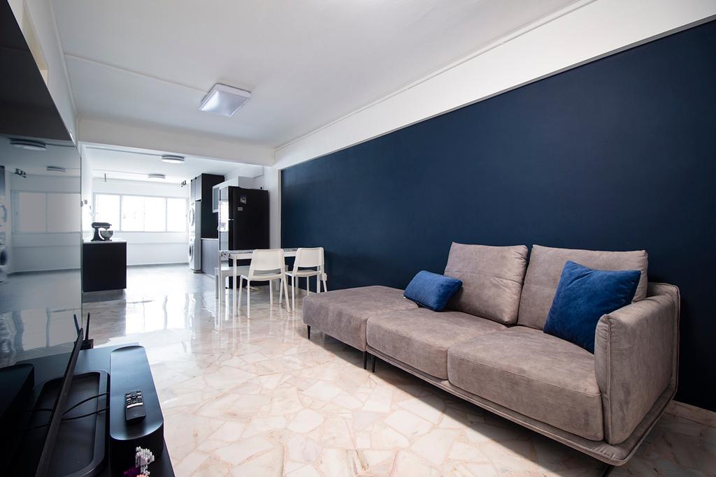Contemporary, HDB, Living Room, Yishun Street 21, Interior Designer, Noble Interior Design