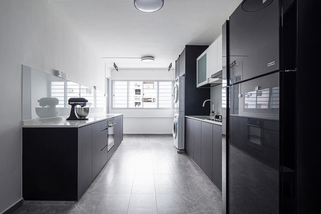 Contemporary, HDB, Kitchen, Yishun Street 21, Interior Designer, Noble Interior Design