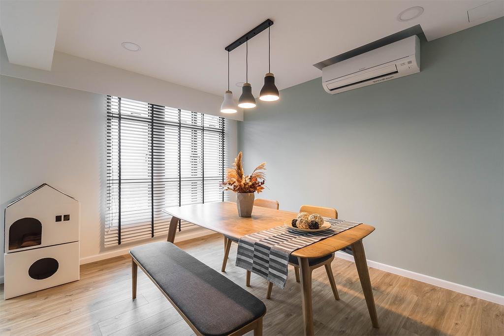 Minimalistic, HDB, Dining Room, Alkaff Crescent, Interior Designer, Noble Interior Design
