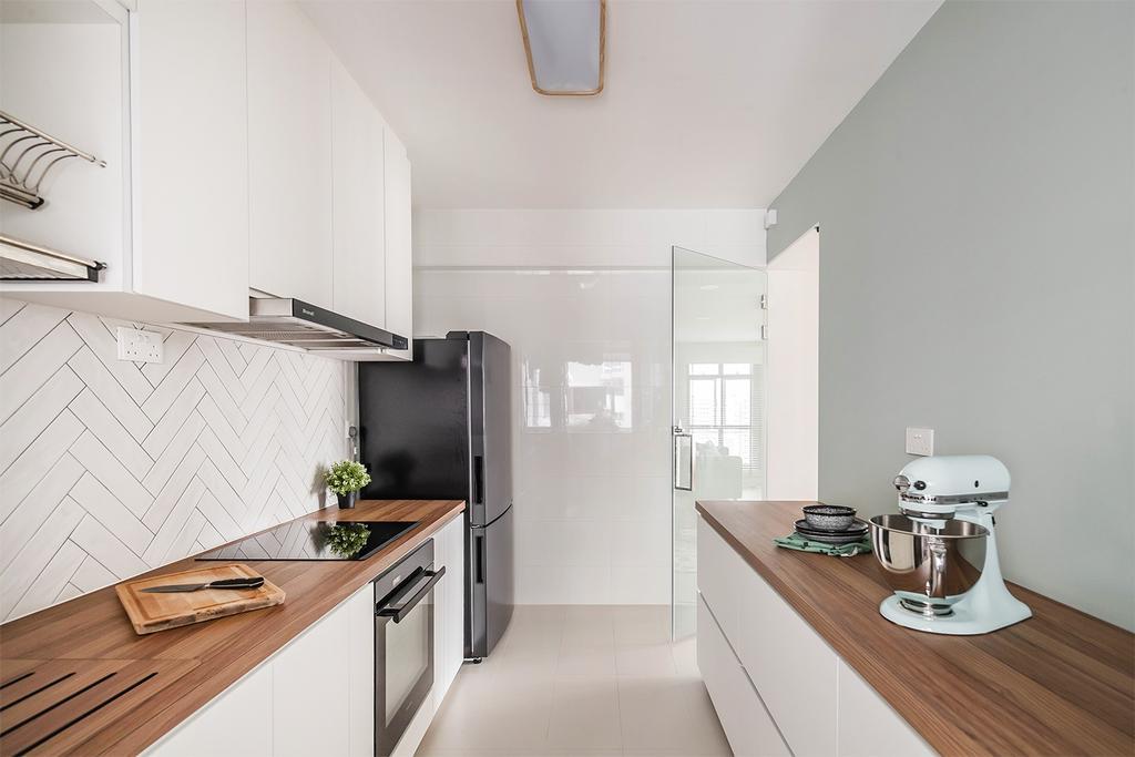 Minimalistic, HDB, Kitchen, Alkaff Crescent, Interior Designer, Noble Interior Design