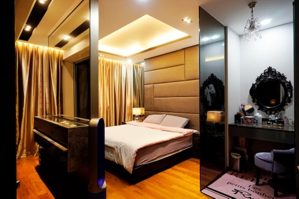 Transitional, HDB, Bedroom, Keat Hong Close, Interior Designer, Groove Interior Design