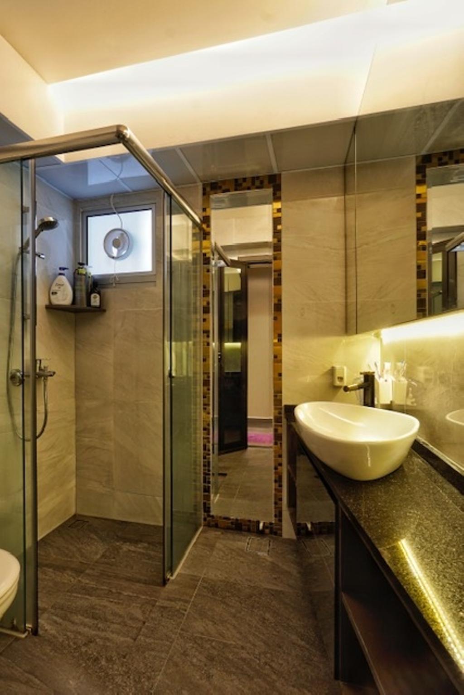 Transitional, HDB, Bathroom, Keat Hong Close, Interior Designer, Groove Interior Design