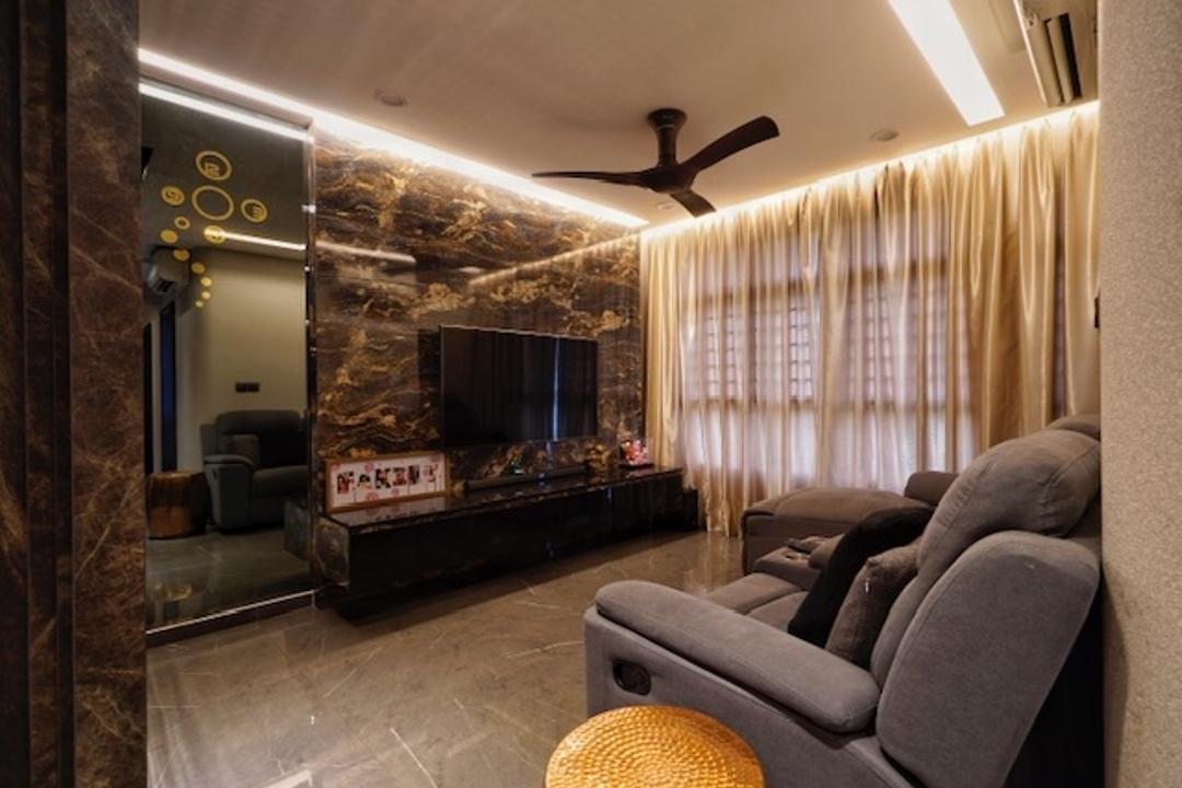 Keat Hong Close Living Room Interior Design 14