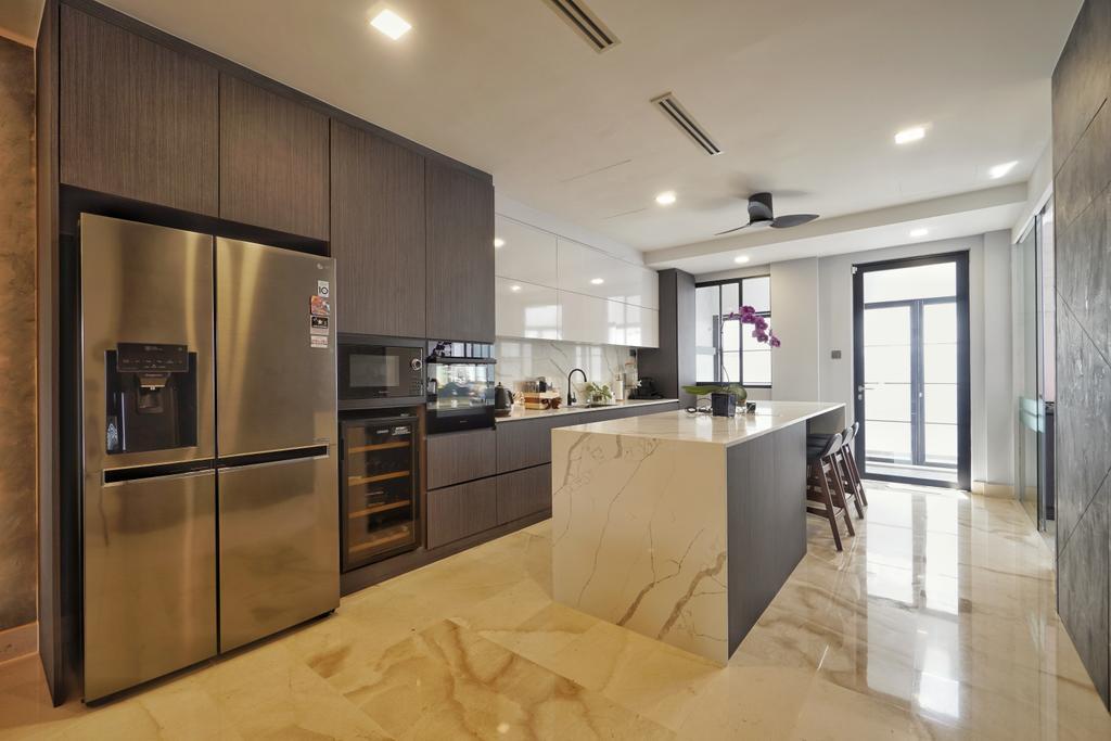 Contemporary, Landed, Kitchen, Greenwood Terrace, Interior Designer, Groove Interior Design