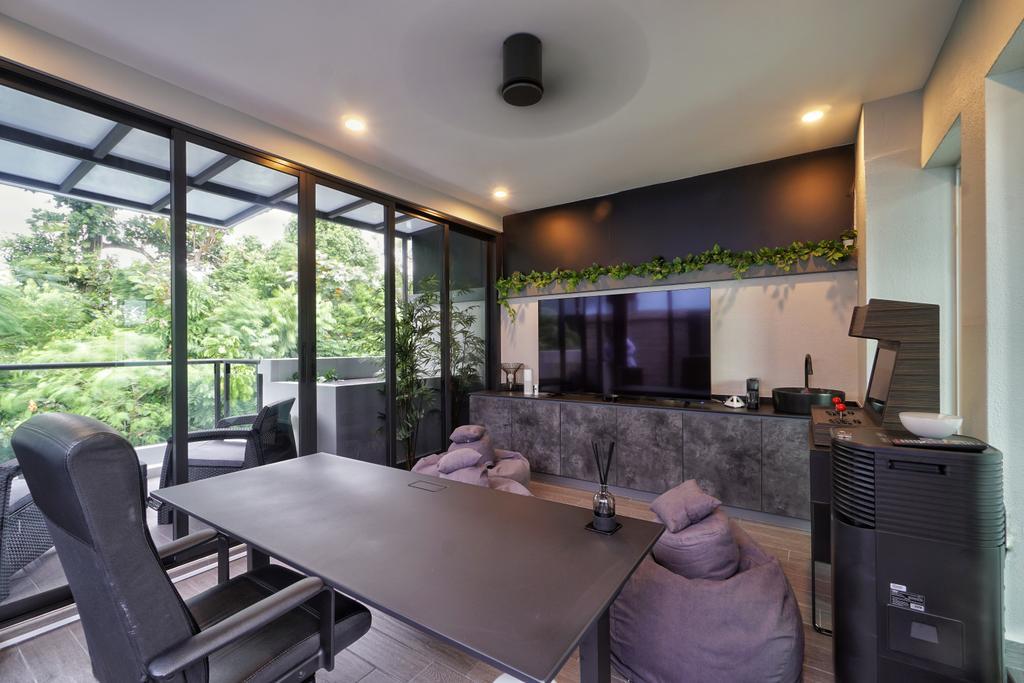 Contemporary, Landed, Study, Greenwood Terrace, Interior Designer, Groove Interior Design