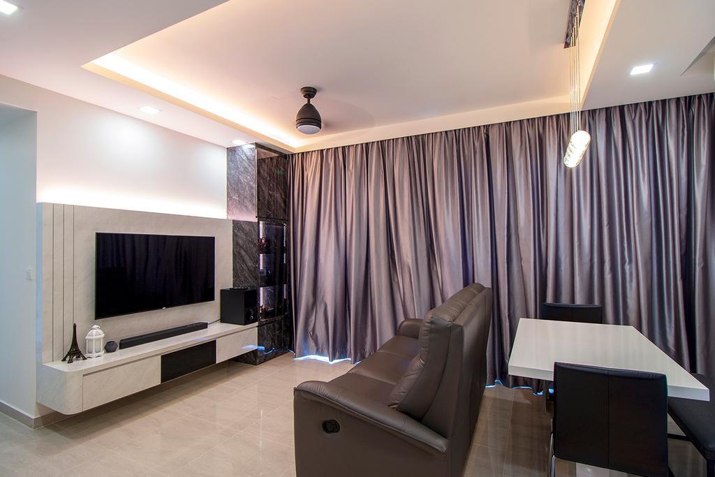Modern, Condo, Living Room, Symphony Suites, Interior Designer, Noble Interior Design
