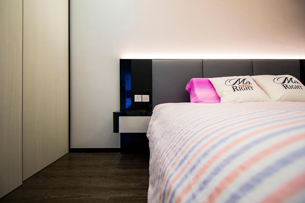Modern, Condo, Bedroom, Symphony Suites, Interior Designer, Noble Interior Design