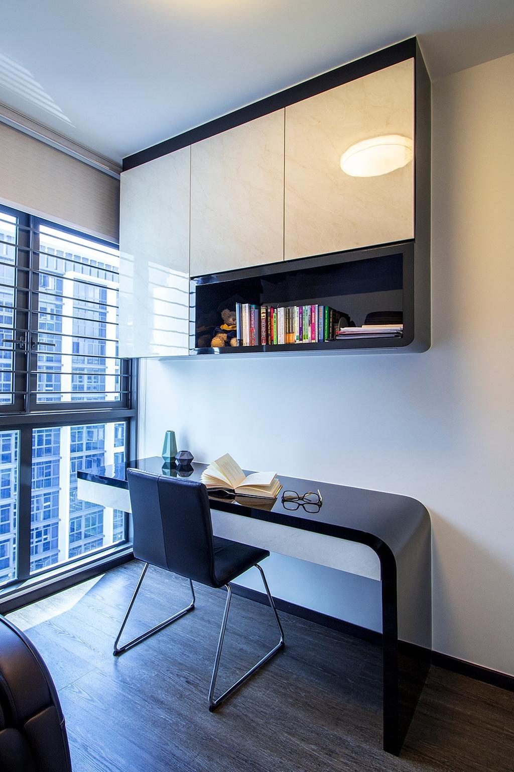 Modern, Condo, Study, Symphony Suites, Interior Designer, Noble Interior Design