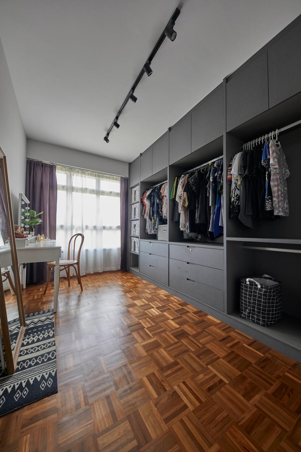 Contemporary, HDB, Bedroom, East Delta @ Canberra, Interior Designer, The Interior Lab, Dressing Room