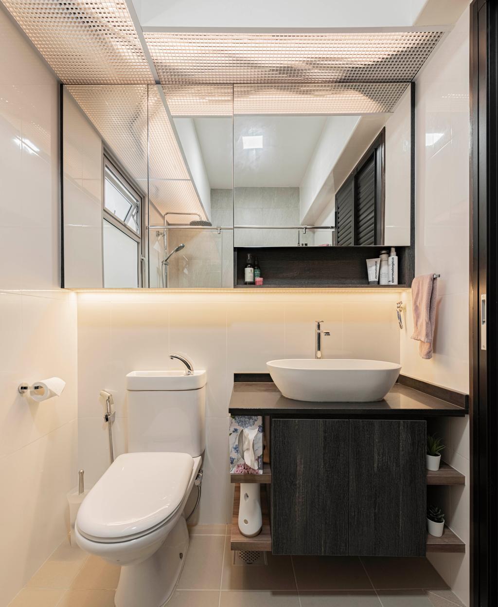 Contemporary, HDB, Bathroom, Tampines North Drive 1, Interior Designer, Metier Planner