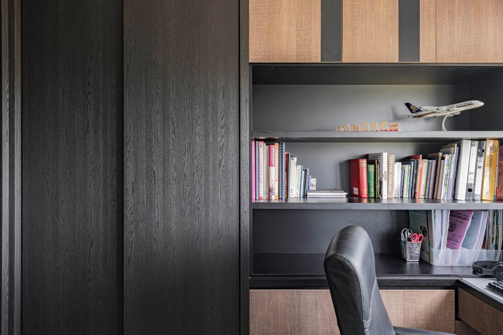 Contemporary, HDB, Study, Tampines North Drive 1, Interior Designer, Metier Planner