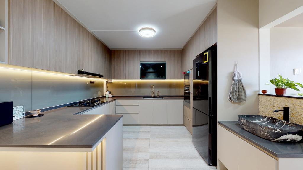 Contemporary, HDB, Kitchen, Tampines Street 82, Interior Designer, Stylemyspace