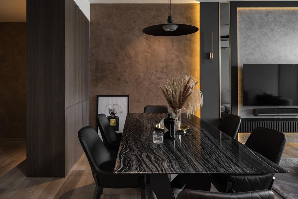Contemporary, Condo, Dining Room, Skyridge gardens, Tanjung Tokong, Interior Designer, Nevermore Group