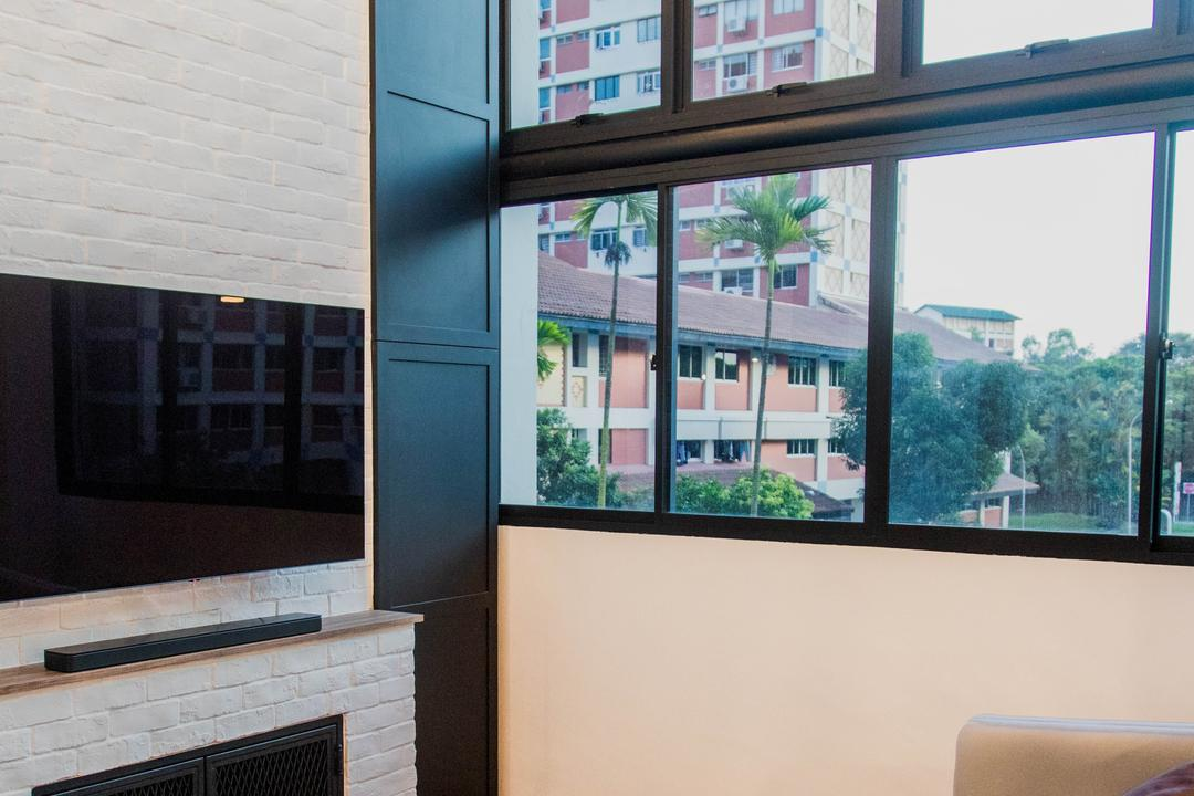 Bishan Street 23, Forefront Interior, Transitional, Living Room, HDB, High Ceiling
