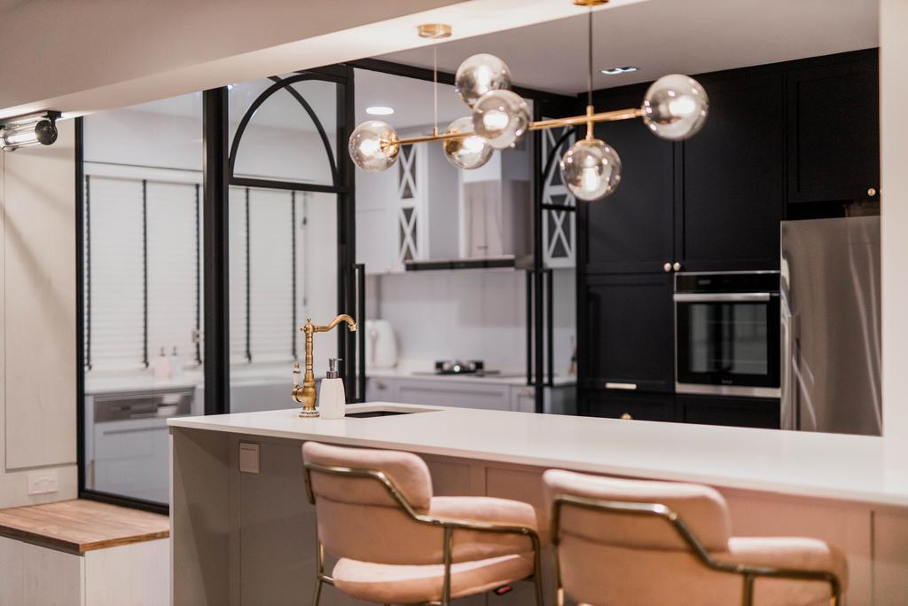 Transitional, HDB, Kitchen, Bishan Street 23, Interior Designer, Forefront Interior