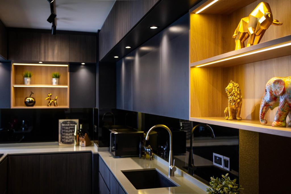 Modern, HDB, Kitchen, Dawson Road, Interior Designer, Fineline Design, Contemporary