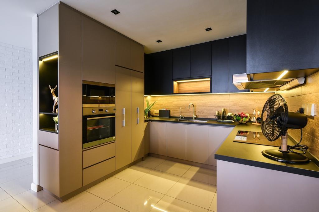 Modern, Condo, Secoya Residence, KL, Interior Designer, IQI Concept Interior Design & Renovation, Industrial
