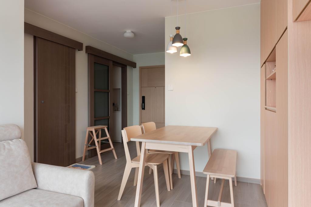 北歐, 公屋/居屋, 飯廳, 天水圍天祐苑, 室內設計師, X Ka Design, 簡約