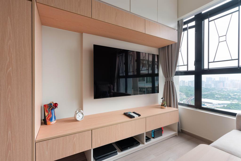 北歐, 公屋/居屋, 客廳, 天水圍天祐苑, 室內設計師, X Ka Design, 簡約