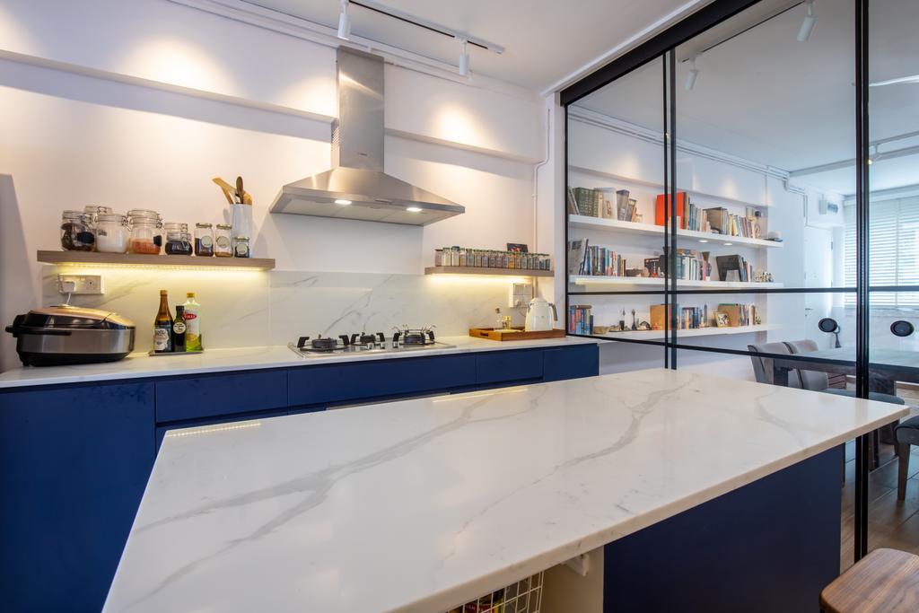 Contemporary, HDB, Kitchen, Sims Drive, Interior Designer, APH Projects, Scandinavian