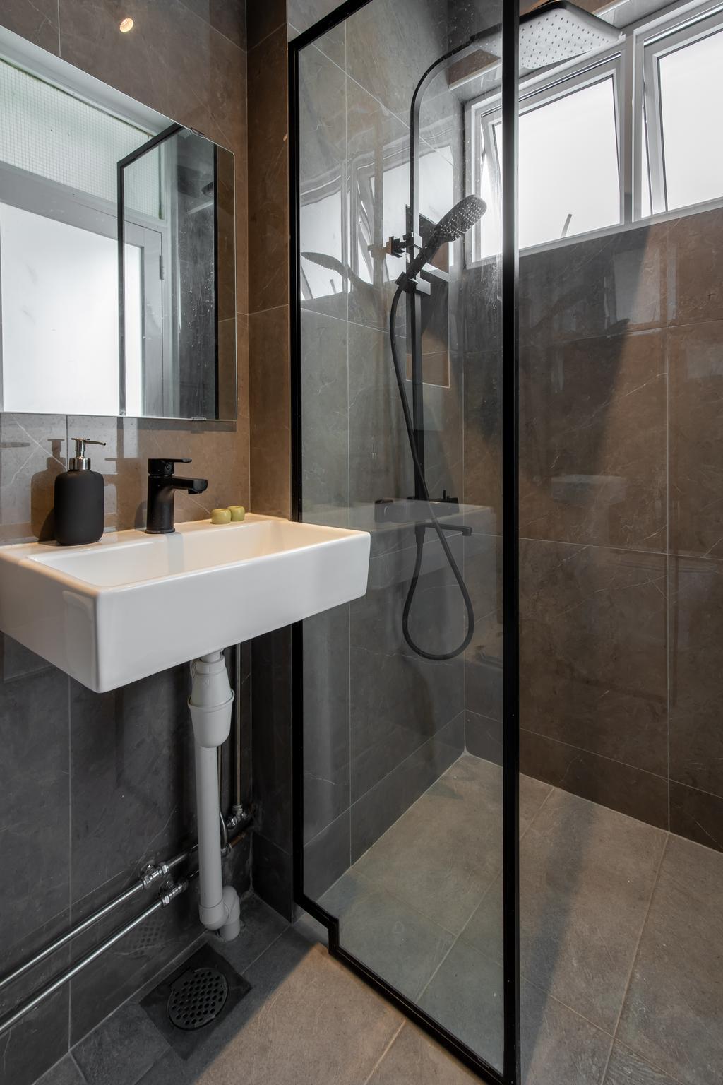 Contemporary, HDB, Bathroom, Sims Drive, Interior Designer, APH Projects, Scandinavian
