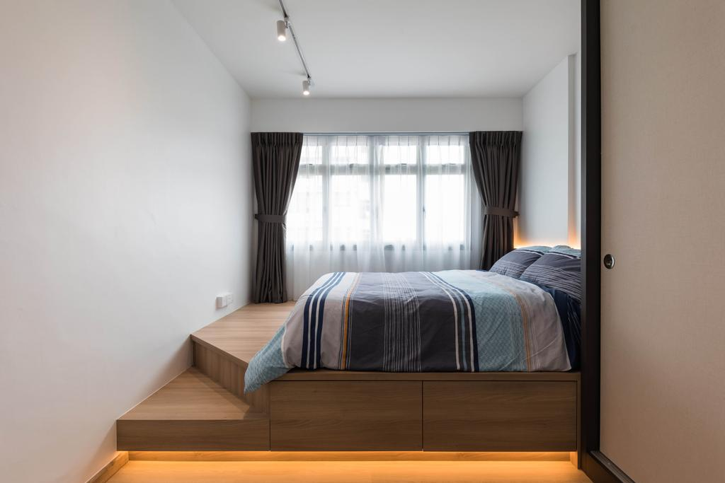 Scandinavian, HDB, Bedroom, Pasir Ris Street 51, Interior Designer, ELPIS Interior Design, Platform Bed