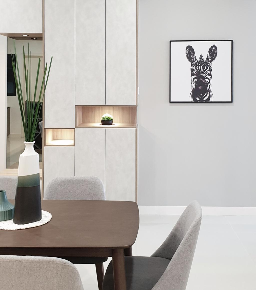 Modern, Condo, Dining Room, Sierramas Height, Sungai Buloh, Interior Designer, Josh Thompson Interiors, Contemporary