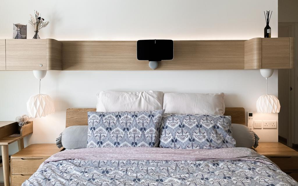 Scandinavian, Condo, Bedroom, The Havre, Bukit Jalil, Interior Designer, Doubble Interior Associates