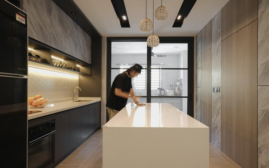 Contemporary, Condo, Kitchen, The Park, Bukit Jalil, Interior Designer, Doubble Interior Associates