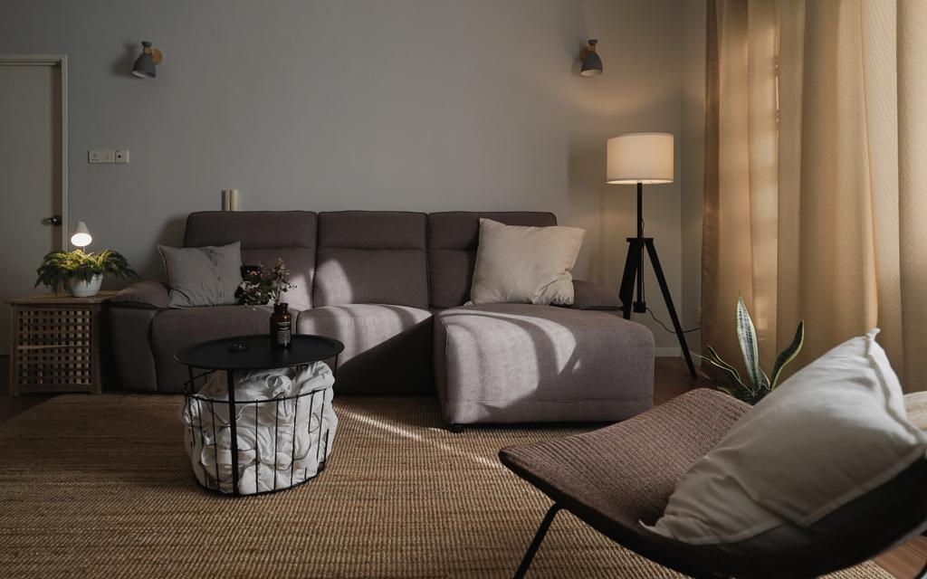Modern, Condo, Living Room, Prima Midah Height, Cheras, Interior Designer, Doubble Interior Associates