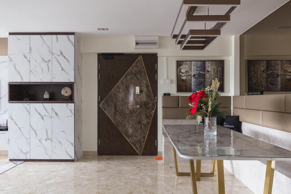 Modern, HDB, Dining Room, Whampoa Drive, Interior Designer, Colourbox Interior