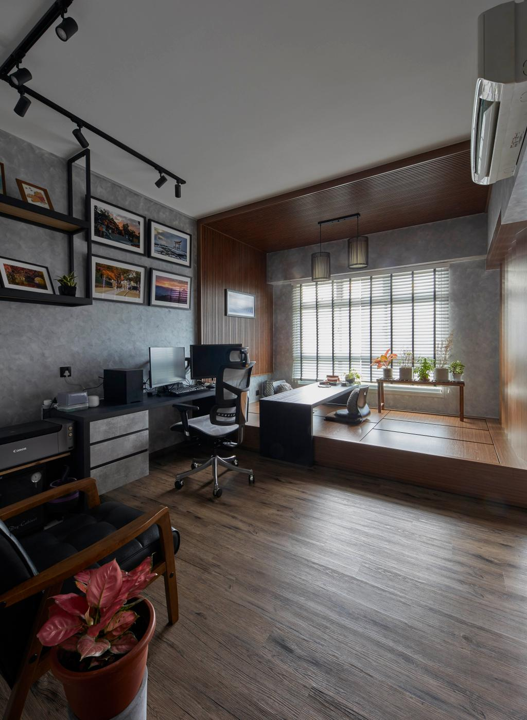 Contemporary, HDB, Study, Canberra Street, Interior Designer, SHE Interior