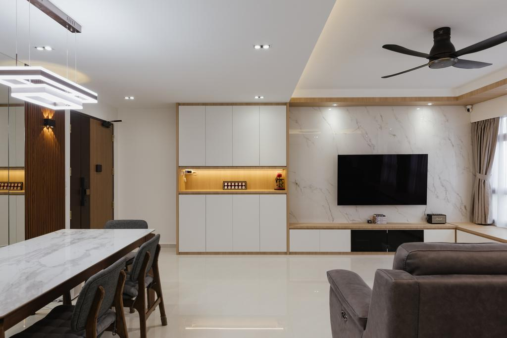 Modern, HDB, Living Room, Sengkang West Road, Interior Designer, 96 Designers Group